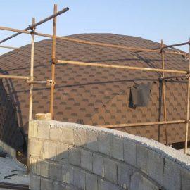 اجرای سقف شینگل گنبدی در لواسان