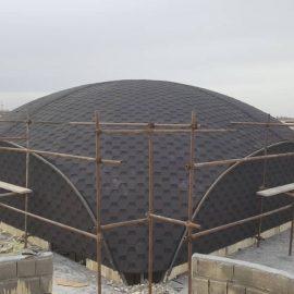 اجرای سقف گنبدی شینگل